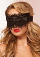 Satin And Lace Eyelash Mask - Black - Os