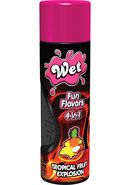 Wet Fun Flavors 4 In 1 Water Based Lubricant Tropical Fruit...