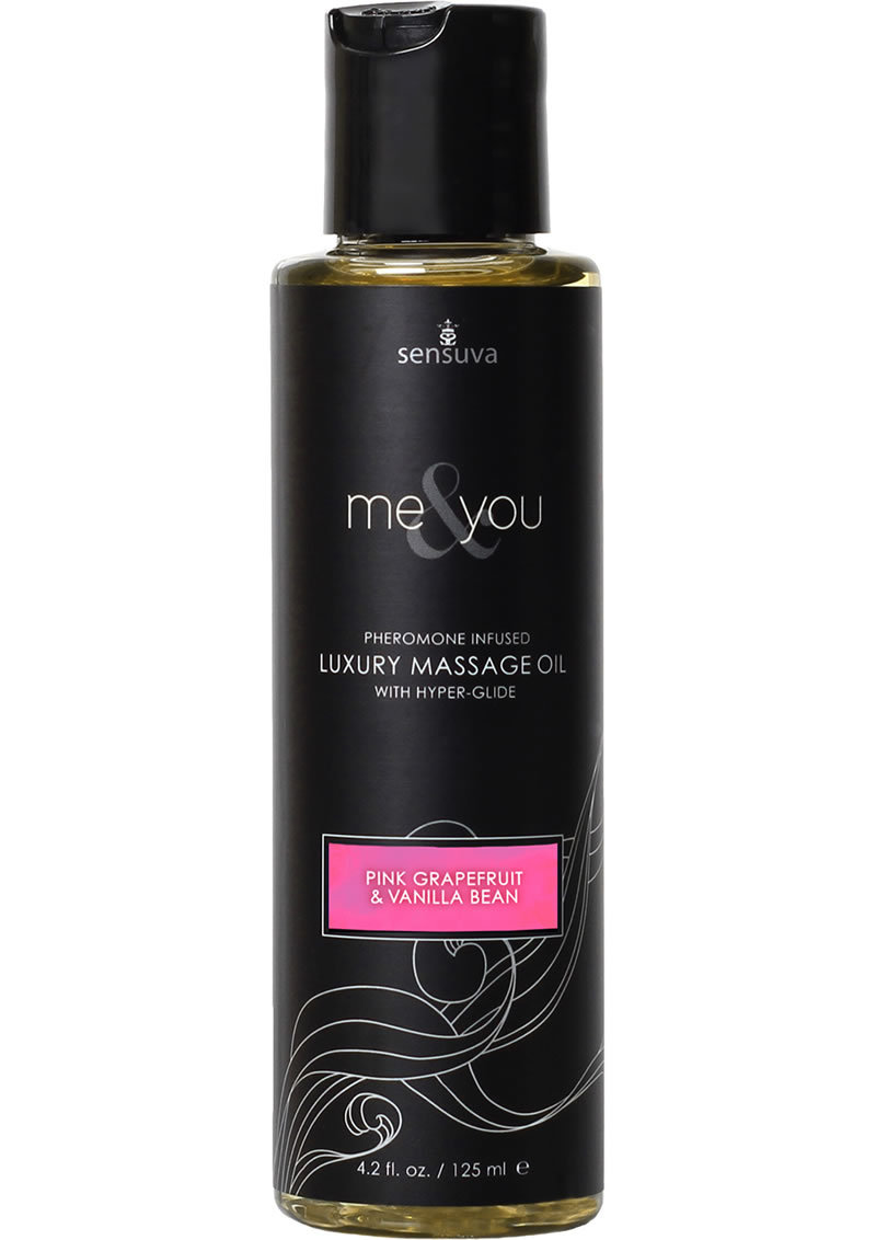 Me And You Pheromone Infused Luxury Massage Oil Pink Grapefruit Vanilla Bean 4.2 Ounce
