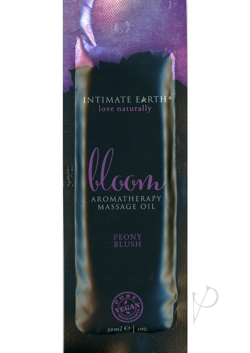 Intimate Earth Bloom Aromatherapy Massage Oil Peony Blush 1oz Foil